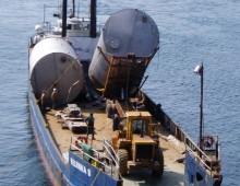 Diomede Barge Unloading