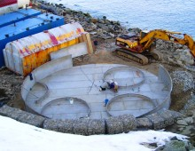Diomede Bulk Fuel Dike Construction